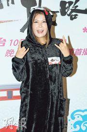 杜如風昨日化身熊本熊,為新一輯旅遊節目谷宣傳。(攝影/記者﹕林祖傑)