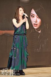 閻奕格為12月12日在九展舉行的音樂會積極備戰。