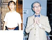 患上鼻咽癌的林尚武身形跟年輕時(左圖)比較消瘦不少,可是精神不錯,更表示自己仍有戲癮。(攝影/記者:林蘊兒)