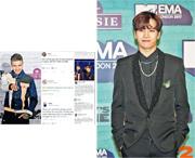 Jackson(右圖)以EMA大中華區官方大使身分出席頒獎禮,並與英國男歌手Liam Payne(左圖)結伴,有歐洲的粉絲被Jackson的外形吸引,紛紛查問他是誰,獲得Got7紛絲在社交網站熱烈回應。(路透社)