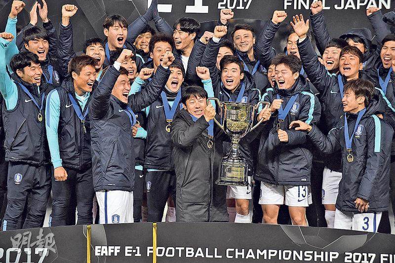 韓國(圖)在東亞錦標賽最後1輪大勝日本蟬聯冠軍。(Getty Images)