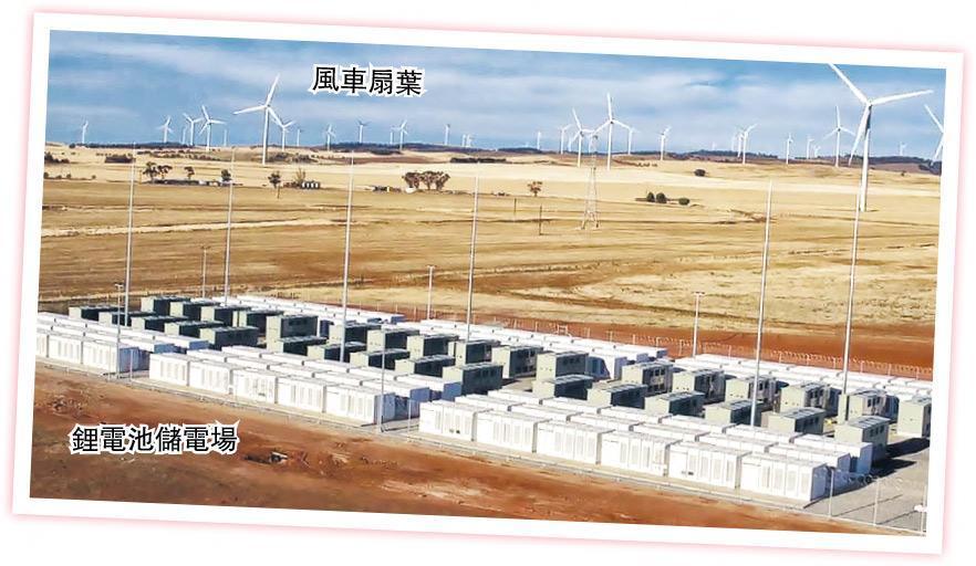 Tesla在南澳大利亞省最大的鋰電池儲電系統在澳洲啟用,可為8000個家庭提供24小時電力。(圖:法新社)