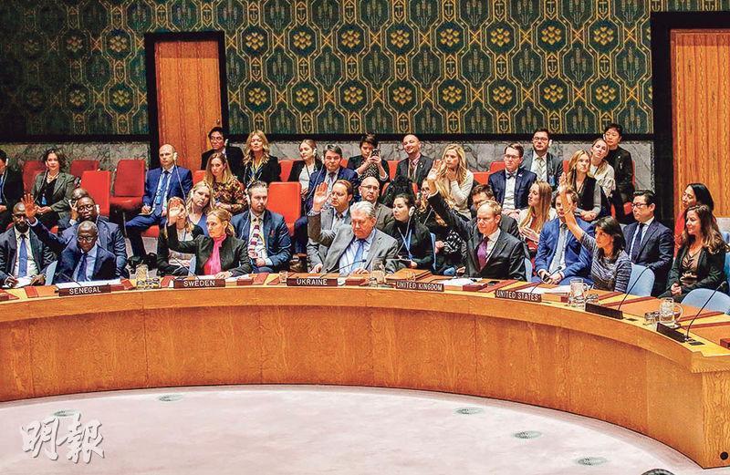 聯合國安理會前天以15對0的票數,一致通過對朝鮮實施新制裁。(法新社)