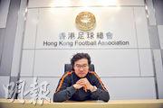 金判坤(圖)在聲明中感激香港市民18年來的支持,又指在足總任職5年半期間是他「最感驕傲及快樂的日子」,故「無悔為香港市民而戰」。(資料圖片)