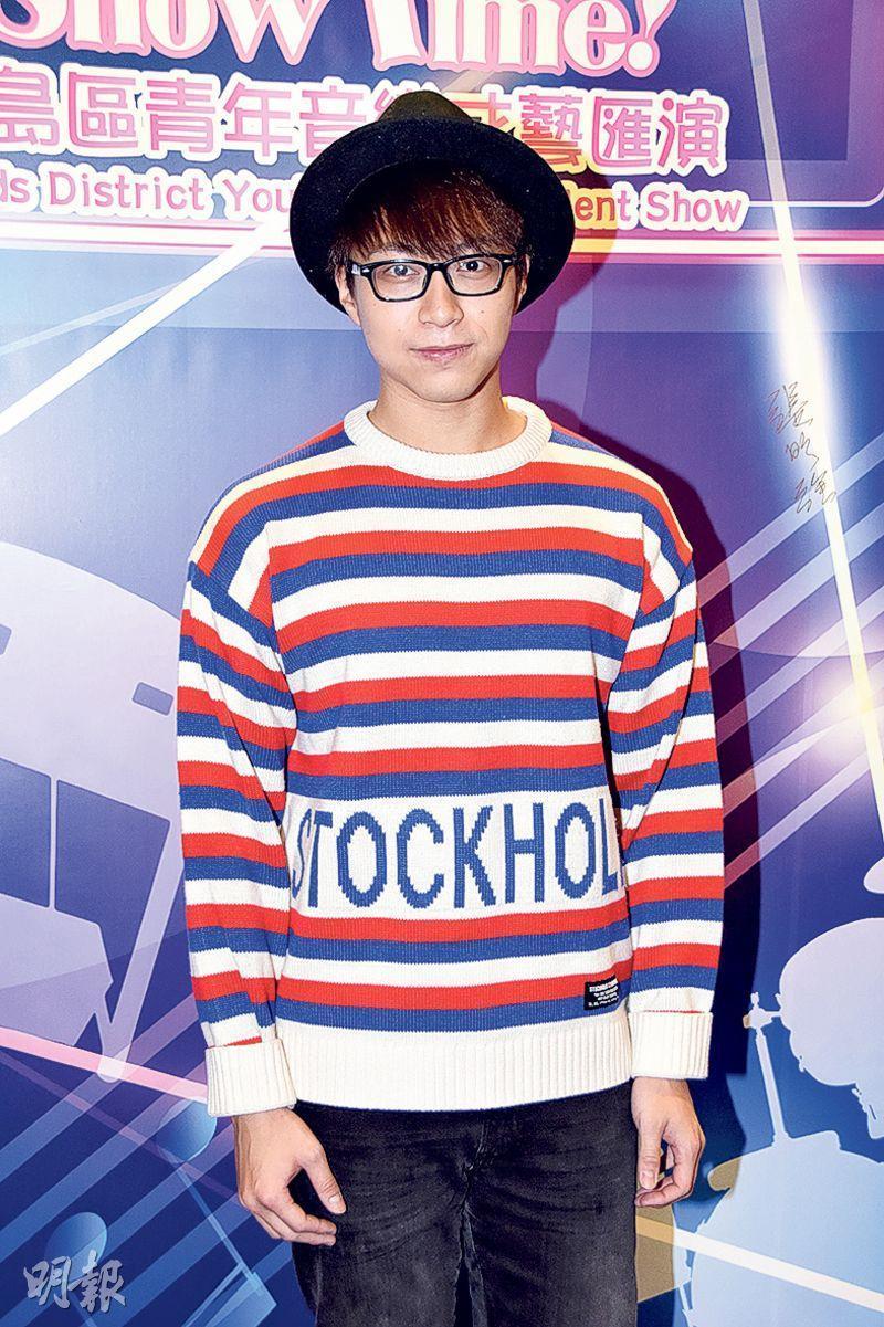 吳業坤表示在家中打機度聖誕節。(攝影:鍾偉茵)