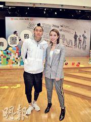 胡子彤與J.Arie昨日出席港台《沒有牆的世界VI》啟播儀式。(攝影/記者:柯美)