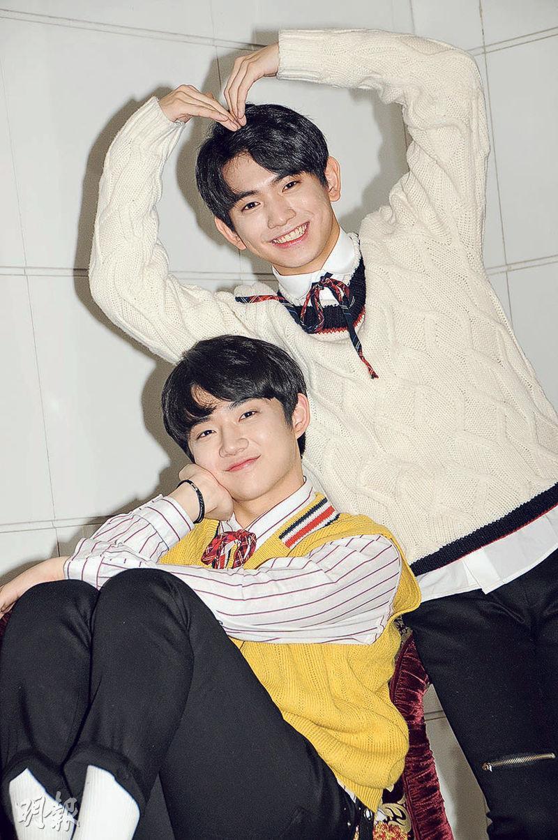 年紀輕輕的安炯燮(左)與李義雄(右),不喜歡被稱可愛,自言都是大男人,有信心變型男。