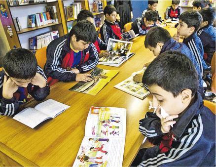 伊朗官方前天宣布,禁止所有小學教授英文。(網上圖片)