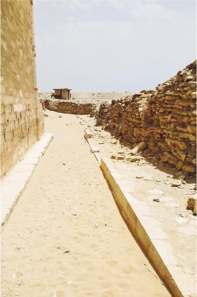 The ruin of a pyramid in Greater Cairo.