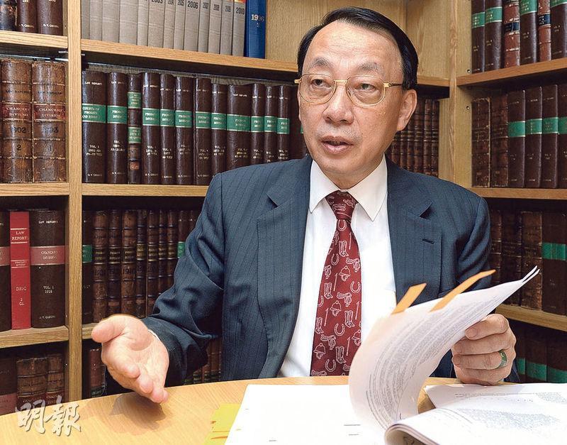 大律師公會前主席、資深大律師陳景生(圖)在電視台節目表示,當年袁國強上任律政司長前,已辭任仲裁員職務。(資料圖片)