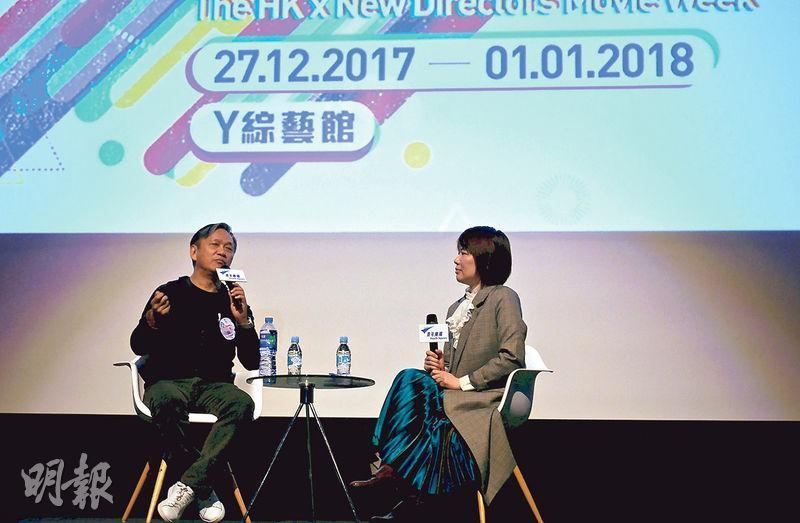 陳德森(左)的電影作品有《晚九朝五》、《紫雨風暴》、《童夢奇緣》、《一個人的武林》等,2010年憑《十月圍城》獲得第29屆香港電影金像獎「最佳導演」的殊榮。(圖:校記 張樂怡)