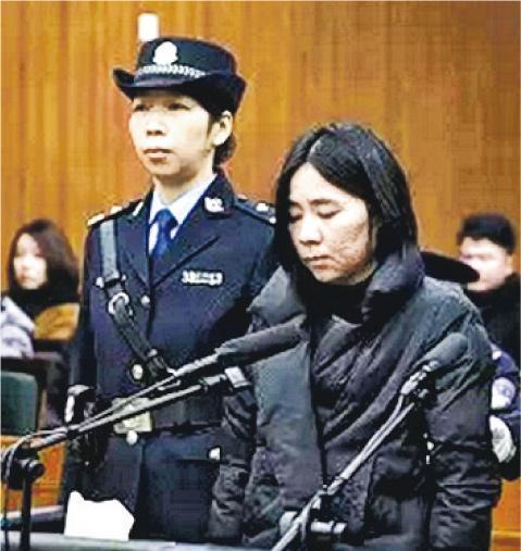 保母莫煥晶(右)被杭州中級法院判處死刑。(法新社)