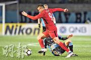 上海上港昨憑艾傑臣(上)的入球,以1球挫川崎前鋒旗開得勝。(Getty Images)