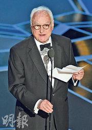 名導演占士艾華利在暮年得最佳改編劇本獎,為耆英爭光。(法新社)