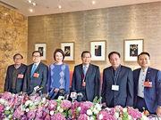民建聯6名人大代表及政協委員昨會見傳媒。(何曉勤攝)