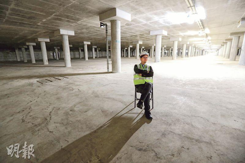 圖為在2017年3月起啟用的跑馬地地下蓄洪池,容量為6萬立方米,CK過去在渠務署公共關係部工作時,曾為此工程項目籌備宣傳。