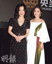 Sa(右)大讚鄭秀文(左)演技出色,拍戲時完全投入角色令她毛管戙。(攝影﹕孫華中)