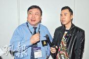 王晶(左)與甄子丹(右)合作兩部電影,對票房充滿信心。(攝影﹕孫華中)
