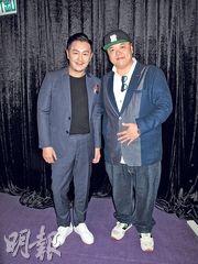 陳浩民(左)與林子聰(右)合組的製作公司,將為「新片場」拍攝4部電影。(攝影/記者:柯美)
