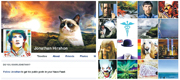 赫爾森認為樣貌是最重要的個人特質,拒絕在網上公開自己的樣子,fb帳戶中沒有自己的照片(右圖),連個人圖像亦非他本人(左圖)。(網上圖片)