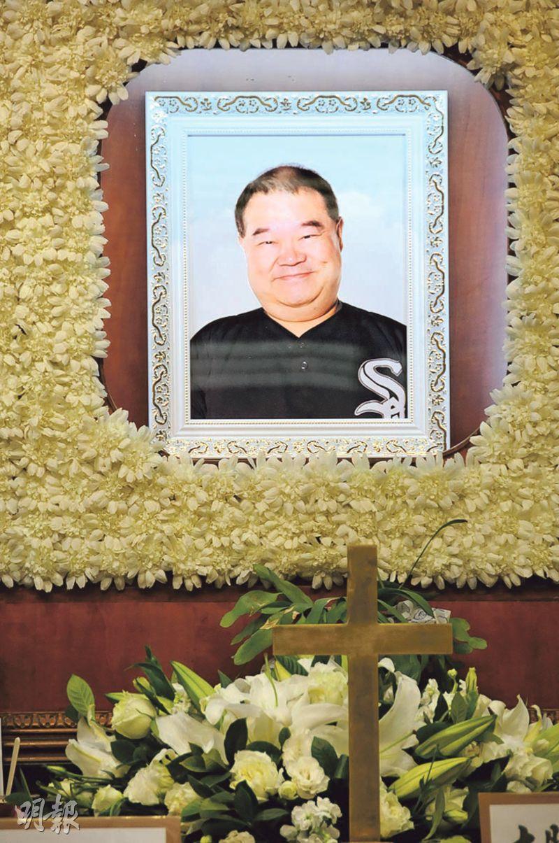 資深電影人施介強昨日在萬國殯儀館設靈。(攝影﹕林祖傑)
