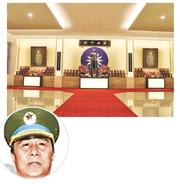 充當台諜而遭處決的解放軍少將劉連昆(圓圖)、大校邵正忠,靈位供奉在軍情局忠烈堂右側。(網上圖片)
