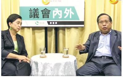 支聯會主席何俊仁(右)昨接受黨友劉慧卿(左)的訪問,他認為戴耀廷風波不會加速基本法23條立法,認為社會亦毋須逼特首林鄭月娥就事件表態。(網片截圖)