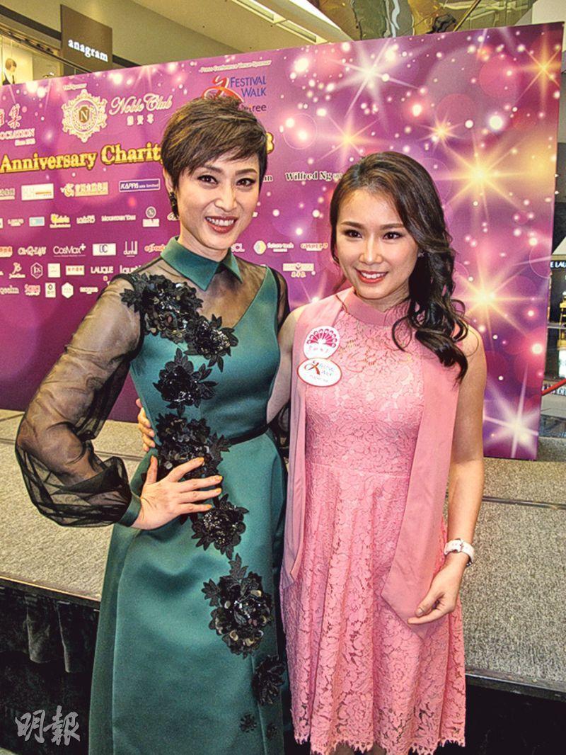 陳法蓉(左)與劉倩婷(右)昨日出席「慧妍雅集」記者會。(攝影/記者﹕鍾一虹)