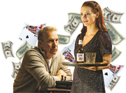Kevin Costner (left) as Molly's father and Jessica Chastain (right) as Molly.