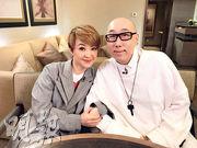 陳慧嫻(左)跟張學潤(右)老友鬼鬼,當年慧嫻跟心儀對象首次約會,請來對方幫手為她扮靚。