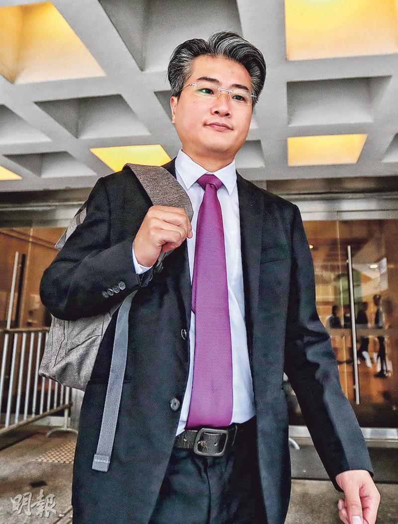 警長黎俊業(圖)拘捕次被告劉錫豪,指劉在警誡下稱「淨係負責埋屍」。(李紹昌攝)