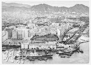 新世界1971年購入藍煙囪碼頭地皮(前方),1978年興建成新世界中心。(新世界發展提供)