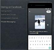Facebook宣布將推出約會功能,系統會為登記的單身用戶作配對,成功交友後可展開私人對話增加認識。(網上圖片)