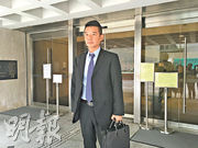 警長蔡國基(圖)昨否認負責案件的總督察謝旦生曾威嚇第三被告稱﹕「呢度係警局,無人可以見律師。」(黃文雋攝)