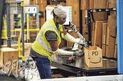 美國上月非農新增職位按月僅增長16.4萬個,但增長遜於預期,而失業率降至3.9%,按月跌0.2個百分點。(法新社)