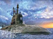 有北約官員早前指出,近年俄國潛艇活動為冷戰時代以來最頻繁,恐成西方威脅。圖為俄國核潛艇「北德文斯克」號。(網上圖片)