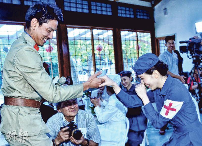 台灣大愛電視台新劇《智子之心》被指美化日軍侵華,以及有傳因此受到大陸當局施壓,僅播出2集就決定停播。圖為《智子之心》拍攝現場。(網上圖片)