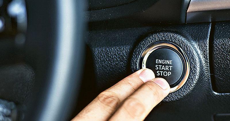 無匙汽車只需按掣便可啟動引擎。(網上圖片)