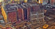 房協證實筲箕灣明華大廈重建地盤內,有一批重約20噸鋼筋,部分於實驗室抽樣測試不合格,卻有分判商在測試前已偷步使用部分鋼筋,涉嫌違反施工指引,房協最終決定棄用整批鋼筋。房協指其他批次鋼筋無發現問題,圖為地盤施工情况。(鄧宗弘攝)