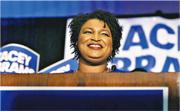 艾布拉姆斯(圖)周二勝出民主黨喬治亞州長初選,有望成為美國史上首名女性黑人州長。(法新社)