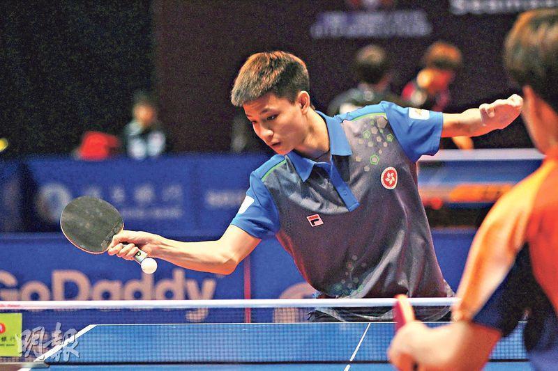 吳柏男(圖)昨先擊敗日本球手殺入4強,之後不敵韓國的趙成敏,未能躋身決賽。(林欣澤攝)
