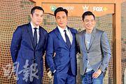 張孝全(左起)、吳鎮宇與劉德華三大型男合作,可惜華仔今次只做監製,無緣鬥戲。(攝影:劉永銳)