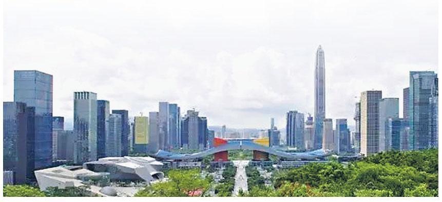 深圳市公布住房改革意見稿,提出到2035年建設170萬個住宅單位,圖為深圳市區。(網上圖片)