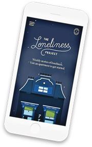 加拿大圖像設計師科達開設The Loneliness Project網站,盼消除孤獨污名。(網上圖片)