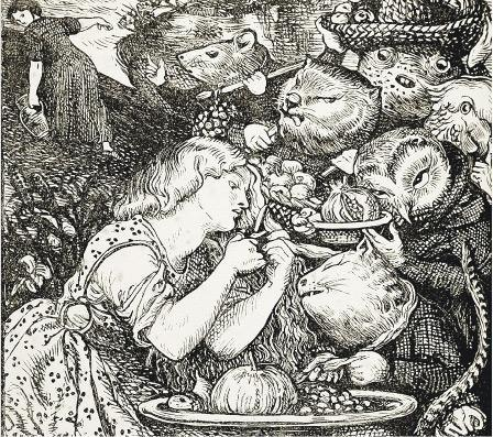 但丁·加百利·羅塞蒂為《精靈市場》封面作畫