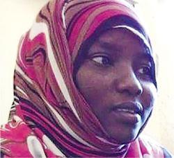 蘇丹女子侯賽因(圖)被迫童婚後,以強姦自衛為由殺夫。(網上圖片)