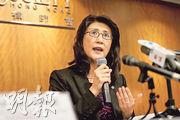 律師會上月改選會長和3名副會長,4人昨舉行傳媒聚會交代未來工作,新任會長彭韻僖(圖)形容,國家憲法在香港有效,國家憲法不止是全國性法律,而是「至高無上」(supreme)的法律。(郭慶輝攝)