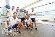 男隊9人包括上屆連奪2銀的鄧超萌(後排左三),下月在南京訓練後選出4人艇代表,亦會從中挑選8人艇港將衝牌。(鄭嘉慧攝)