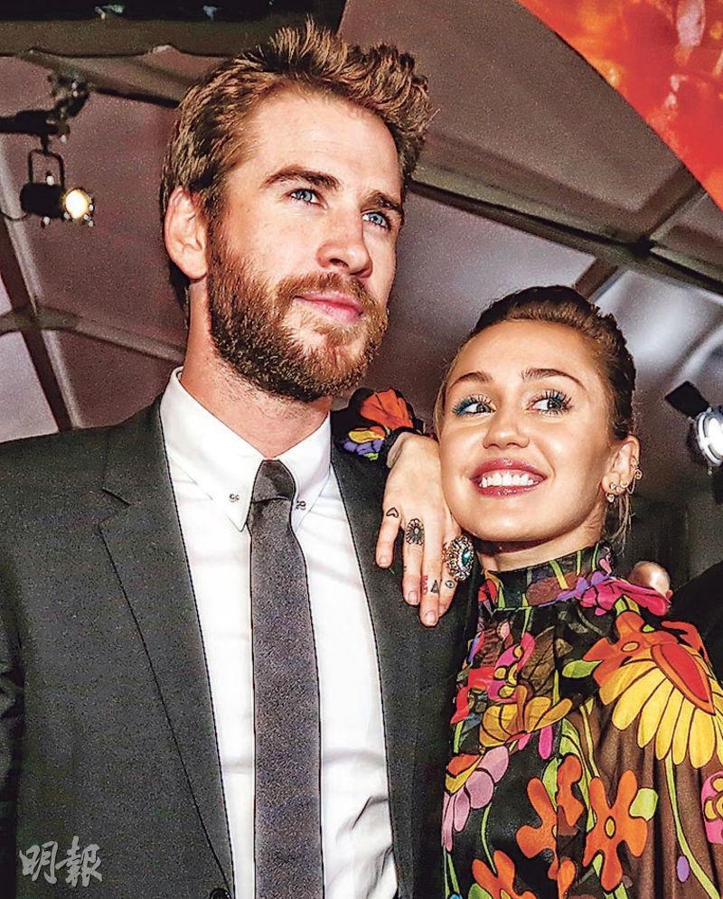 有傳李安漢斯禾夫(左)與Miley(右)為了結婚生子的問題而再度鬧翻。