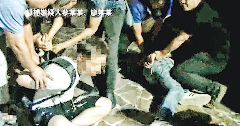 深圳公安上載短片,顯示疑犯被捕過程。(深圳CID微博片段截圖)